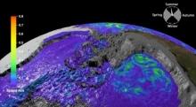 Анимация движения глубинных вод Антарктиды